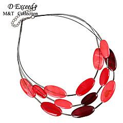 Wine Fashion Bohemian Multilayer Natural Shell Statement Choker Necklace for Women NL140128