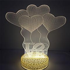 Best Gift for Kids Love Design 3D Effect Led Night Light