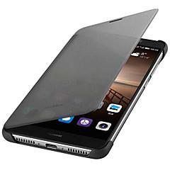 Huawei mate 9 alkuperäiset älykkäät ikkunat nahkakotelo kova pcpu takakansi