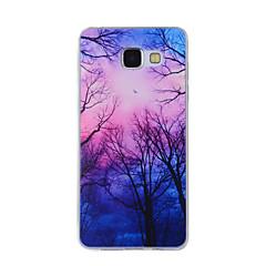 Til Samsung Galaxy A8 (2016) a8 etui cover duskwood malet mønster tpu materiale telefon etui til a7 a5 a3 a510 a310