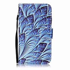 Voor lg k10 k8 behuizing blauw bloemen patroon schilderen kaart stent pu leer voor k7 ls770 ls775 v20