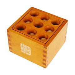 Assemblage & Dextérité Kong Ming verrouillage Jouets Nouveaux Jouets Carré Bois Marron Pour Garçons Pour Filles5 à 7 ans 8 à 13 ans 14
