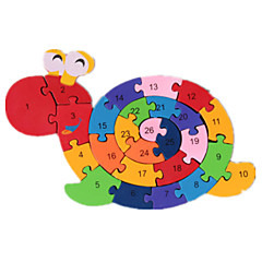 Jigsaw Puzzles Building Blocks DIY Toys 1 Wood Rainbow