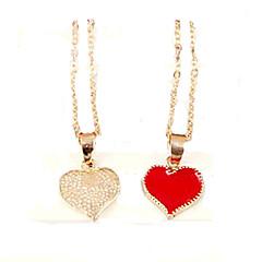 Damskie Naszyjniki z wisiorkami Heart Shape Stop Miłość biżuteria kostiumowa Modny Biżuteria Na Impreza