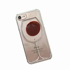 Kompatibilitás iPhone X iPhone 8 iPhone 7 iPhone 6 iPhone 5 tok tokok Folyékony Hátlap Case Rajzfilm Puha Hőre lágyuló poliuretán mert