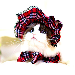 Cat / Dog Bandanas & Hats Red / Black Dog Clothes Winter / Summer / Spring/Fall Stripe Cute / Classic / Halloween