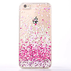 Na Z płynem Kılıf Etui na tył Kılıf Serce Miękkie TPU na Apple iPhone 7 Plus / iPhone 7 / iPhone 6s Plus/6 Plus / iPhone 6s/6