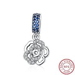 europejskich i amerykańskich biżuteria srebrna 925 zawieszka wisiorek wiszące - akcesoria kształt róży