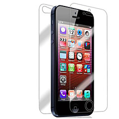 iPhone 5/5Sのための[10パック]フロントとバック網膜スクリーンプロテクター