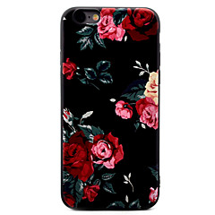 Para Estampada Capinha Capa Traseira Capinha Flor Macia TPU para Apple iPhone 7 Plus / iPhone 7 / iPhone 6s Plus/6 Plus / iPhone 6s/6