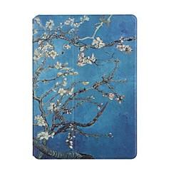 For Kortholder Origami Etui Heldækkende Etui Blomst Hårdt Kunstlæder for Apple iPad Air 2 iPad Air