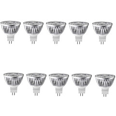 10st 6W MR16 500lm warm / koel licht lamp led spot lights (12v)