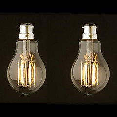 2PCS 8W B22 LED Filament Bulbs G60 8 COB 800 lm Warm White Dimmable AC 220-240 AC 110-130 V