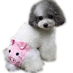 Koty Psy Spodnie Ubrania dla psów Zima Lato Wiosna/jesień Kreskówka Urocze Yellow Coffee Różowy