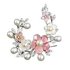 Dam Broscher Pärla Smycken För Bröllop Party Dagligen Casual