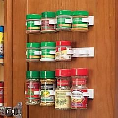 Clip N Store Kitchen Bottle Spice Organizer Rack Cabinet Door Spice Clips 20-Clip Set