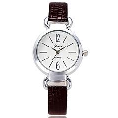 Women's Fashion Watch Wrist watch / Quartz PU Band Cool Casual Black White Red Brown Pink