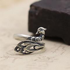 Anéis Sem Pedra Diário Casual Jóias Prata de Lei Feminino Masculino Anel 1peça,Tamanho Único Prateado
