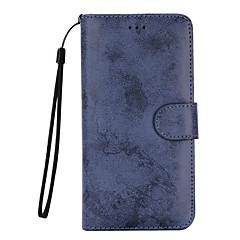Για Θήκη καρτών Πορτοφόλι με βάση στήριξης Ανοιγόμενη Παγωμένη tok Πλήρης κάλυψη tok Μονόχρωμη Σκληρή Συνθετικό δέρμα για SamsungS7 edge