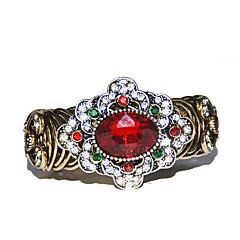 Dames Cuff armbanden Modieus Bohemia Style Strass Glas Legering Bloemvorm Bronzen Sieraden VoorFeest Verjaardag Dagelijks Causaal