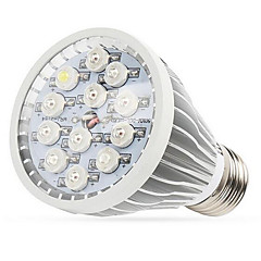 12w E27 / E14 / GU10 llevado crece las luces LED de alta potencia (12 8red 2blue 1UV 1white) 290-330lm AC 85-265 V 1 PC