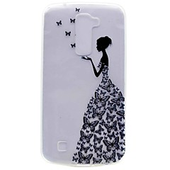 Mert Minta Case Hátlap Case Szexi lány Puha TPU mert LG LG K10 LG K7 LG Nexus 5X LG X Power