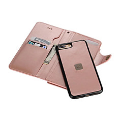 Na Etui iPhone 7 Etui iPhone 7 Plus Etui iPhone 6 Portfel Etui na karty Lustro Kılıf Futerał Kılıf Jeden kolor Twarde Skóra PU na Apple