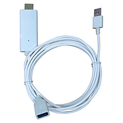 Measy video a schermo iphone i8 a HDMI per iPhone 5 / 5s / 5c / 6 / 6S / 6 plus / 7 / 7plus schermo del telefono ipad a HDMI TV HDTV cavo