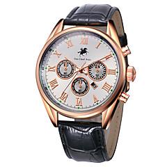 Masculino Relógio de Moda Quartzo Couro Banda Preta Marrom Branco Preto Marron Azul