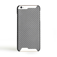 Mert Ultra-vékeny Case Hátlap Case Egyszínű Kemény Szénszál mert Apple iPhone 7 Plus iPhone 7 iPhone 6s Plus/6 Plus iPhone 6s/6