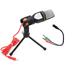 karaoke taşınabilir pc sohbet için tutucu klips ile 2017 yeni kullanışlı sıcak kablolu yüksek kaliteli stereo kapasitif mikrofon