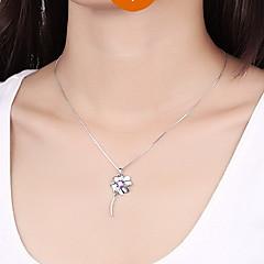 Μενταγιόν Cross Shape Τετράφυλλο τριφύλλι Ασήμι Στερλίνας Ζιρκονίτης Cubic Zirconia Βασικό Μοναδικό Φλοράλ Μοντέρνα Κοσμήματα Για