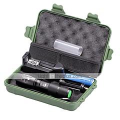 LED taskulamput Taskulamppu-setit LED 2000 Lumenia 5 Tila Cree XM-L T6 18650 AAA Himmennettävä Säädettävä fokus Kompakti koko Zoomable