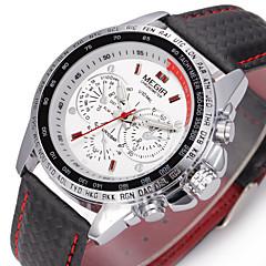 MEGIR Heren Sporthorloge Dress horloge Modieus horloge Polshorloge Automatisch opwindmechanisme Echt leer Band Bedeltjes
