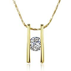 Dame Halskædevedhæng Kvadratisk Zirconium Geometrisk form Zirkonium Guldbelagt LegeringUnikt design Hængende Geometrisk Yndig