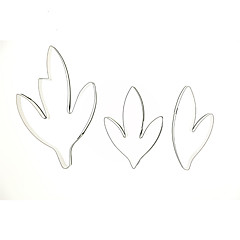 New Arrival 3pcs/set Fondant Cake Decoration Floral Petal Stainless Steel Peony Leaves Cutters Set Sugar Clay Biscuit Mold Cake Decorating Tools DIY