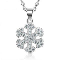 Dames Hangertjes ketting Sterling zilver Zirkonia Hangende stijl Modieus Aanbiddelijk Euramerican Zilver SieradenBruiloft Feest