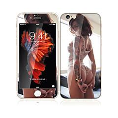til Apple iPhone 6s / 6 4,7 hærdet glas med blød kant foran skærmen fuld skærm dækning beskytter og rygbeskytter sexet pige mønster