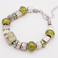 Dames Armbanden met ketting en sluiting Modieus Met de hand gemaakt Glas Legering Medaillon Hartvorm Alfabetvorm Liefde SieradenGeel