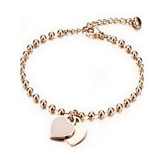 Armbanden Armbanden met ketting en sluiting Legering Hartvorm Modieus Sieraden Geschenk Gouden,1 stuks