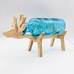 youoklight kreativa handgjorda glasflaska trä rådjur natt ljus- gul / röd / blå
