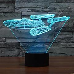 3d valo Star Trek taistelulaiva värikäs touch johti visio lamppu