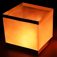 1PCS Square Paper Wishing Floating Water River Candle Lanterns Lamp Light  Birtyday Wedding Party Decoration