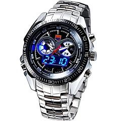 Мужской Спортивные часы Модные часы Наручные часы Кварцевый Японский кварцLED Календарь Защита от влаги С двумя часовыми поясами тревога