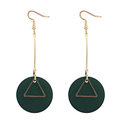 Dråbeøreringe Store øreringe Plastik Træ minimalistisk stil Mode Sort Rød Grøn Smykker Daglig 1 par