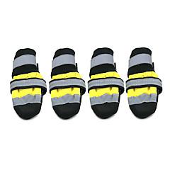 Σκυλιά Παπούτσια & Μπότες Κάλτσες Μοντέρνα Αδιάβροχη Διατηρείτε Ζεστό Συνδυασμός Χρωμάτων Κίτρινο Κόκκινο Νάιλον PU Δέρμα