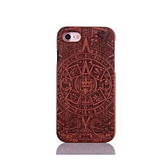 For Shockproof Embossed Pattern Case Back Cover Case God Totem Pattern Hard Pear Solid Wood for Apple iPhone 7 7 Plus 6s 6 Plus SE 5s 5