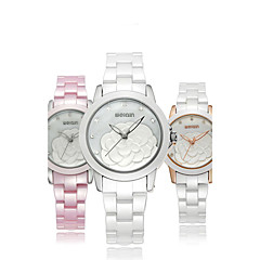 Women's Fashion Watch Wrist watch Quartz Ceramic Band Elegant White Gold Pink Brand