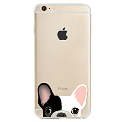 Para Estampada Capinha Capa Traseira Capinha Cachorro Macia TPU para AppleiPhone 7 Plus iPhone 7 iPhone 6s Plus/6 Plus iPhone 6s/6 iPhone