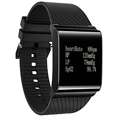 Women's Men's Bluetooth 4.0 Smart Watch Heart Rate/Blood Pressure/Emotional Status/Fatigue Level Monitor Fitness Wristband Sports Bracelet